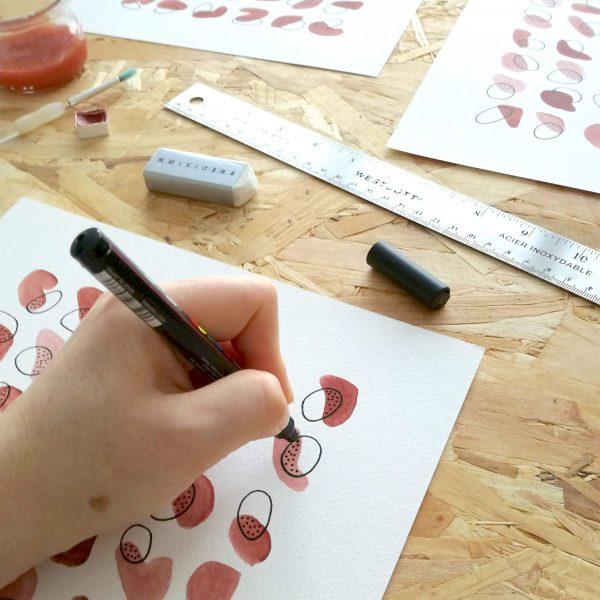pop-affiche-art-abstrait-fait-main-rouge-rose