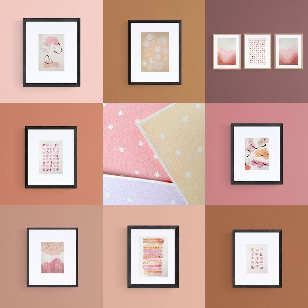 my-pink-valentine-illustration-affiche-aquarelle-acrylique-fait-main