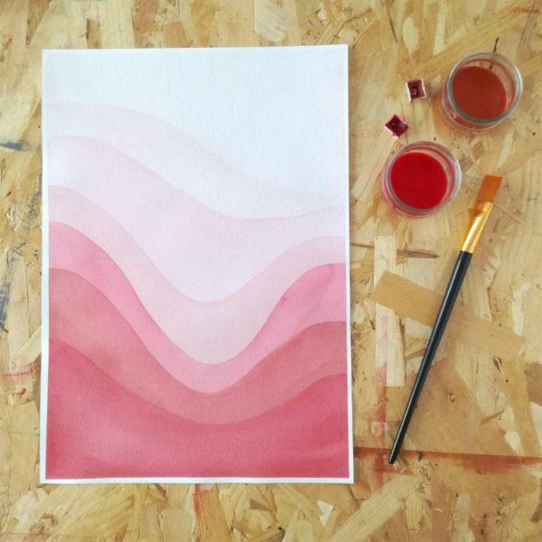 pop-affiche-a3-minimaliste-tryptique-rose-abstrait-fait-main
