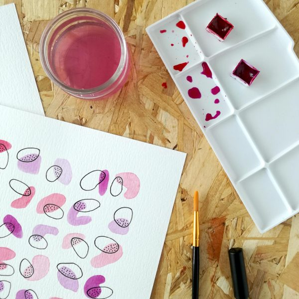 pop-affiche-abstrait-fait-main-artisan-rose
