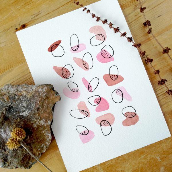 pop-petite-illustration-aquarelle-motifs-geometriques-rose