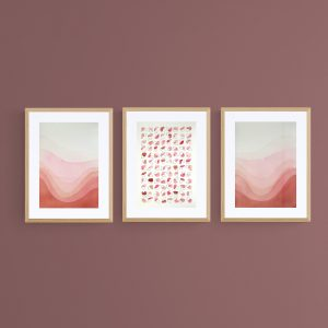 pop-trois-illustrations-assorties-abstrait-roses-graphique-fait-main