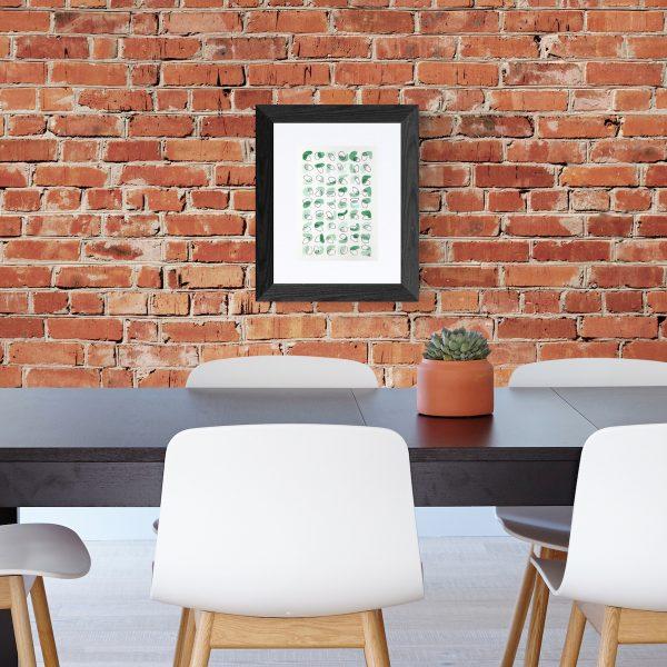 affiche-abstrait-vert-eucalyptus-fait-main-toulouse