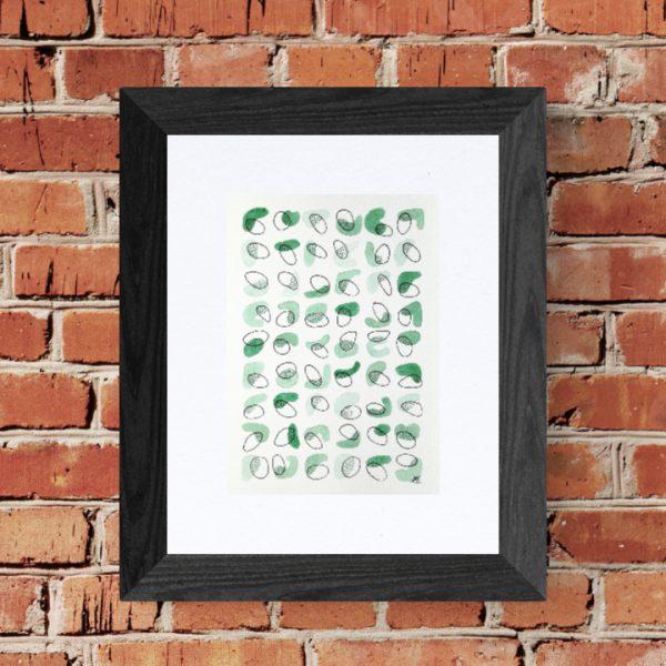 affiche-art-abstrait-vert-pastel-tendre-fait-main-aquarelle